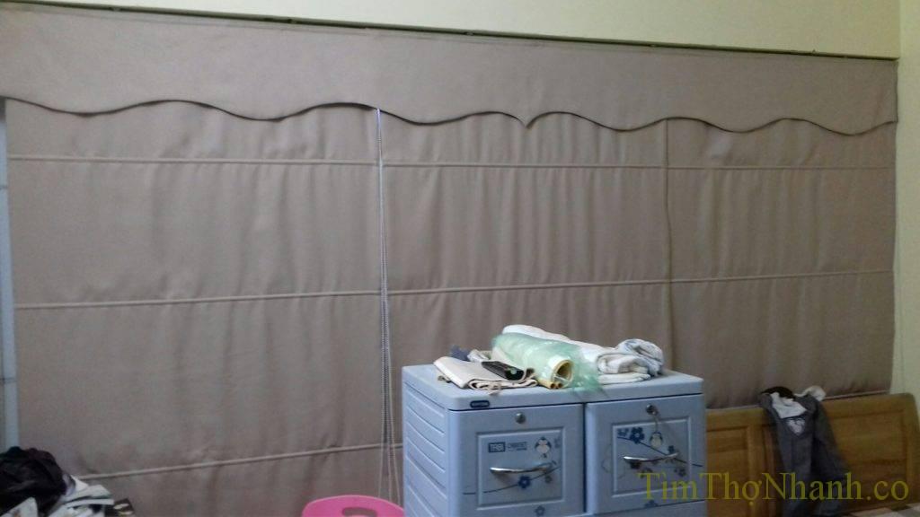 Lắp rèm vải roman giá nhân công 100.000đ/bộ