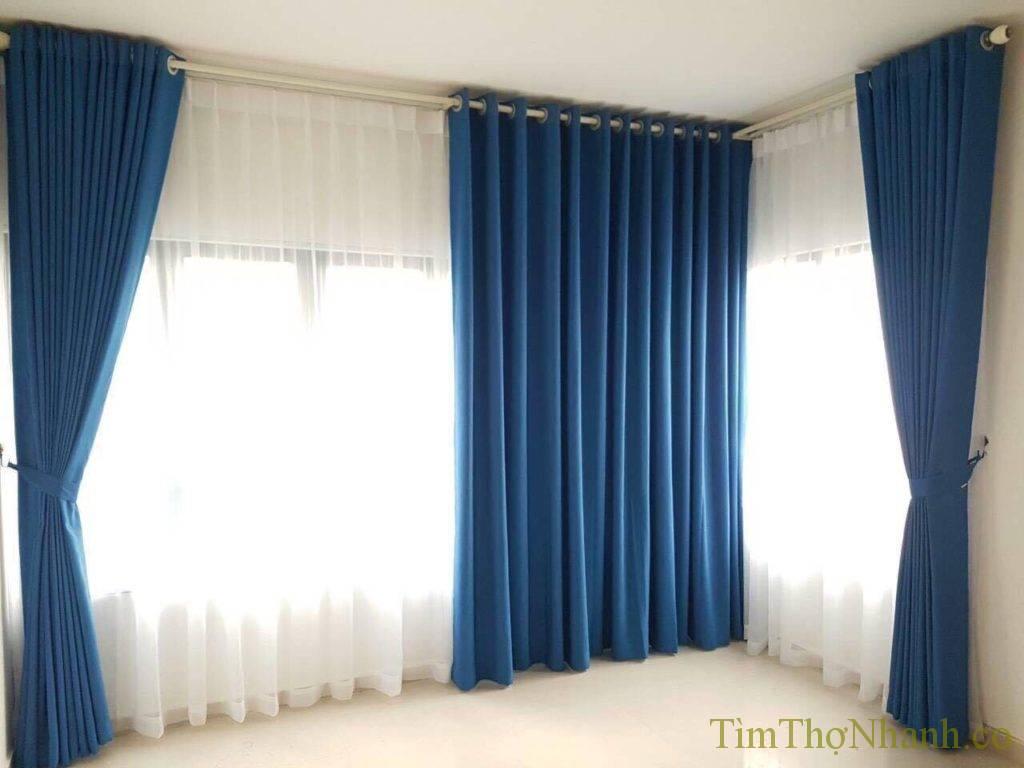 Rèm vải 2 lớp chúng em lắp rất nhiều cho các anh chị mới chuyển nhà, chuyển rèm giá 150.000đ/bộ