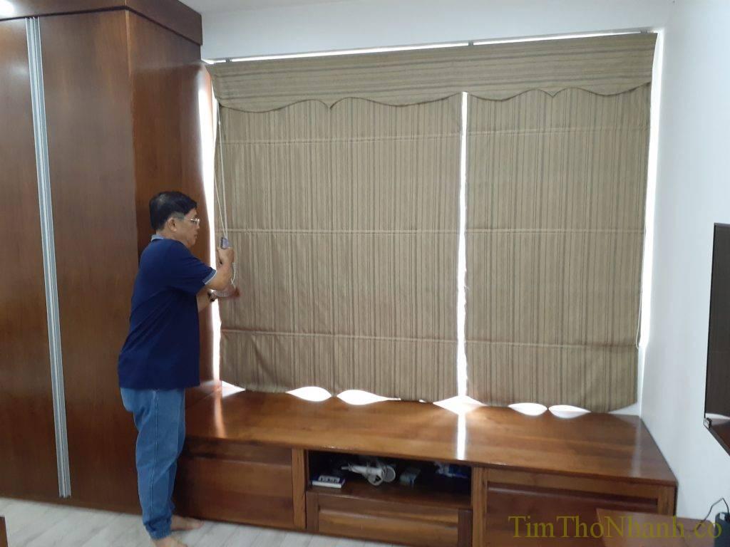 Sửa rèm roman tại chung cư viện chiến lược công an - đường tú mỡ