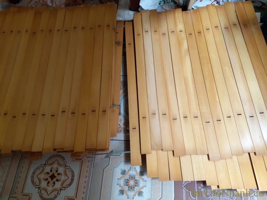 các lan gỗ được vệ sinh lau chùi sạch sẽ